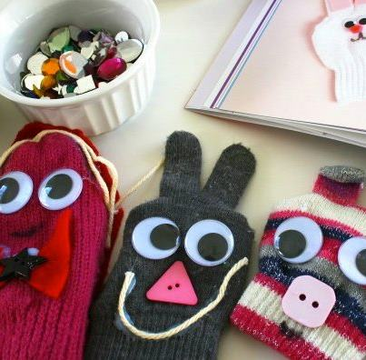 If I throw away all of those mixed matched gloves, I could never make such great crafts.