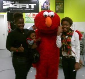 We found Elmo at the Herbalife party!!!