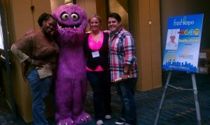 The Biggest Losers in Charlotte NC with some big purple guy.