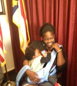 I nursed Noah on Capitol Hill. :)