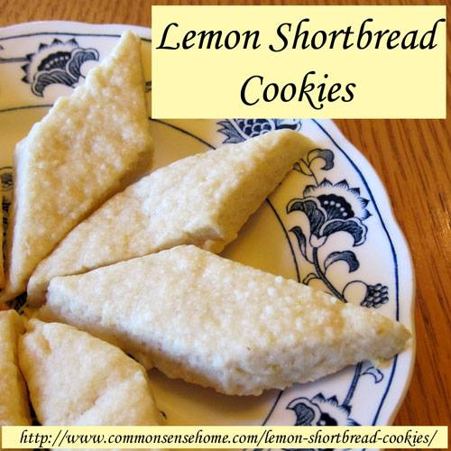 Lemon-shortbread cookies - yum! by Common Sense Homesteading