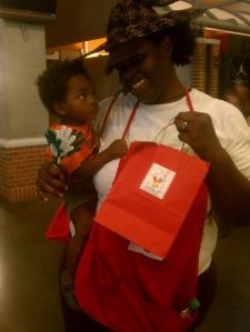 Noah & I volunteering for The Ronald McDonald House charities at Time Warner Cable Arena