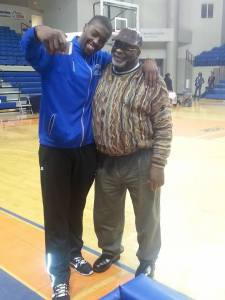 african american grandson and basketballplayer