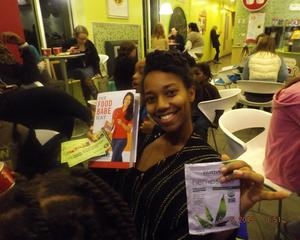 ashleyQCSAHM assist Organizer on Food Bade Book