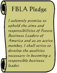 FBLA Creed. I believe education is the right of every person. I believe the future depends on mutual understanding and cooperation among business, industry, labor, religious, family, and educational institutions, as well as people around the world.