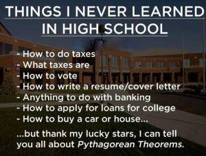 never learned in school